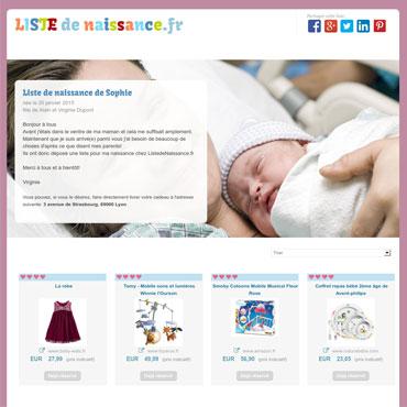 21abee1805243 Liste de naissance en ligne libre et gratuite - ListedeNaissance.fr